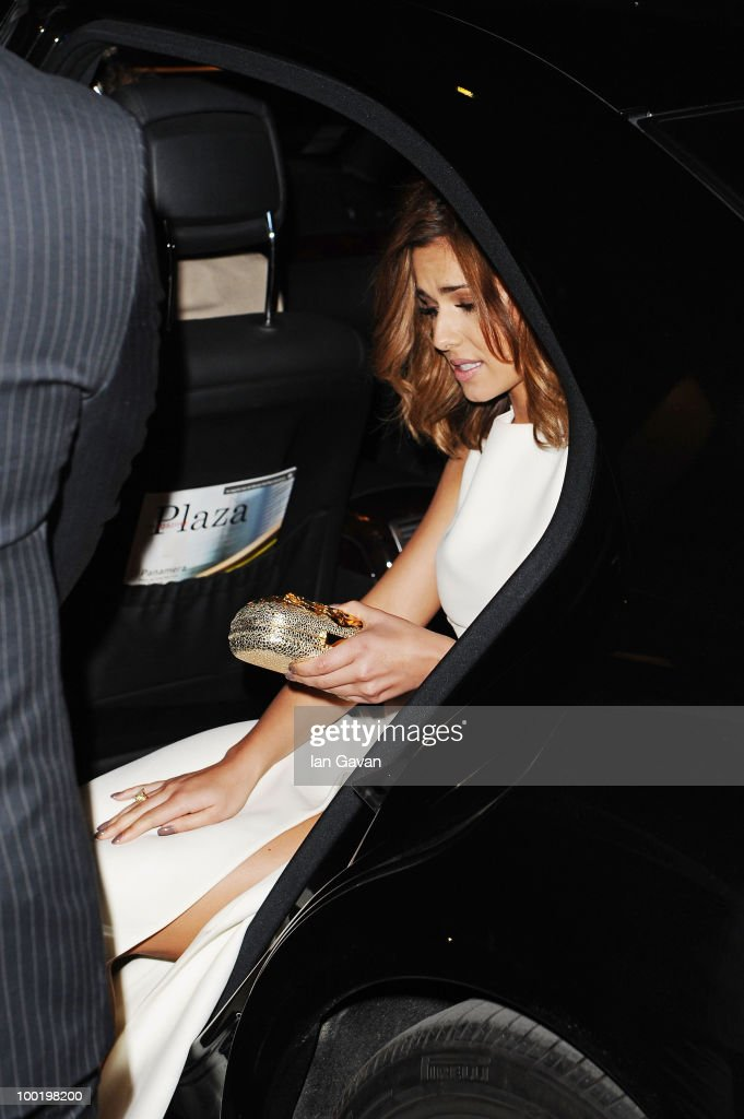 Singer Cheryl Cole departs the 'Outside Of The Law' Premiere at the Palais des Festivals during the 63rd Annual Cannes Film Festival on May 21, 2010 in Cannes, France.