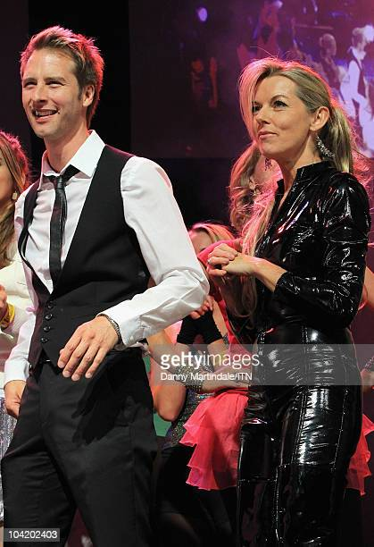 Singer Chesney Hawkes and Mary Nightingale on stage during Betfair's 'Newsroom's Got Talent' which raises funds for three charities Leonard Cheshire...