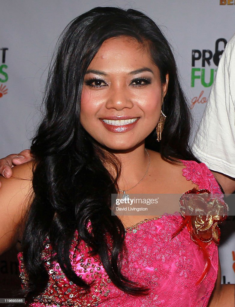 Singer Chhom Nimol of Dengue Fever attends the Somaly Mam Foundation's Project Futures Global Campaign launch event at SLS Hotel on July 23, 2011 in Beverly Hills, California.