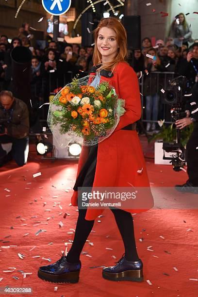 Singer Chiara attends preview of 65th Festival della Canzone Italiana 2015 at Teatro Ariston on February 9 2015 in Sanremo Italy