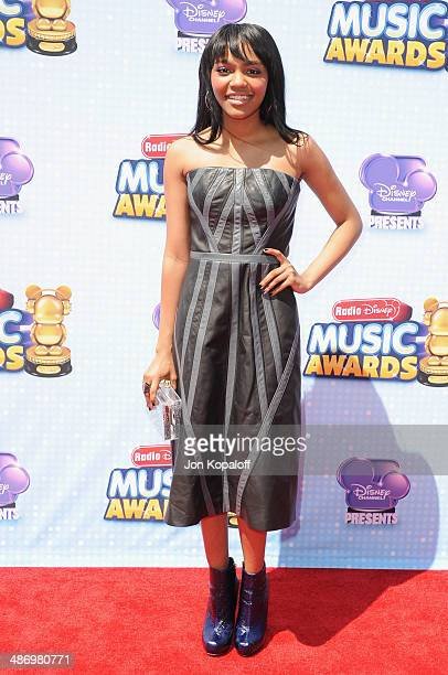 Singer China Anne McClain arrives at the 2014 Radio Disney Music Awards at Nokia Theatre LA Live on April 26 2014 in Los Angeles California