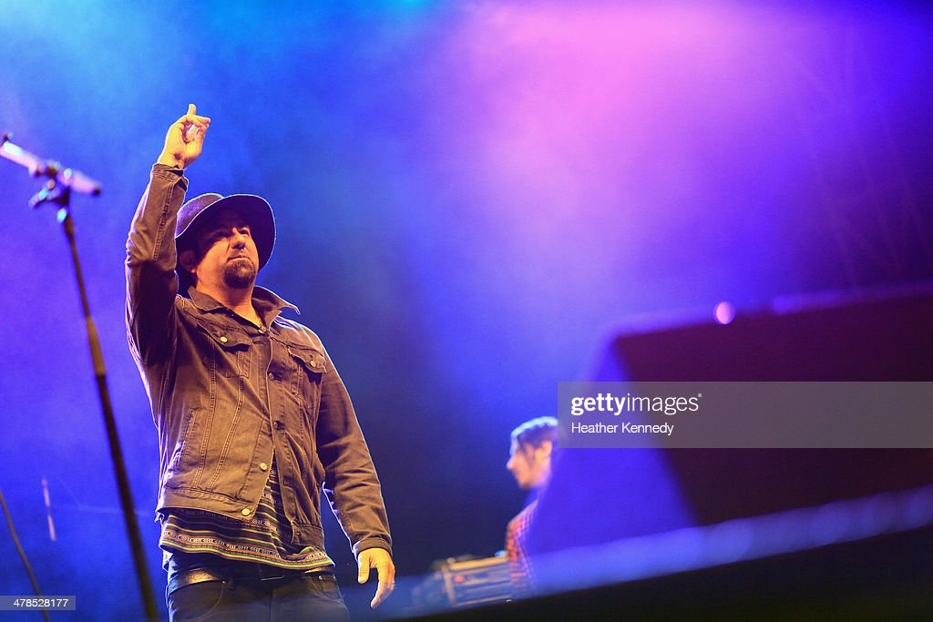 Singer <a gi-track='captionPersonalityLinkClicked' href=/galleries/search?phrase=Chino+Moreno&family=editorial&specificpeople=2378076 ng-click='$event.stopPropagation()'>Chino Moreno</a> of The Deftones performs onstage at the USPS Hendrix Stamp Event + Los Lonely Boys during the 2014 SXSW Music, Film + Interactive at Butler Park on March 13, 2014 in Austin, Texas.