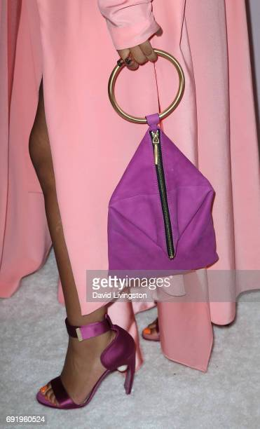 Singer Chloe Bailey purse shoe detail of the RB duo Chloe X Halle attends the Ladylike Foundation's 9th Annual Women of Excellence Awards gala at The...