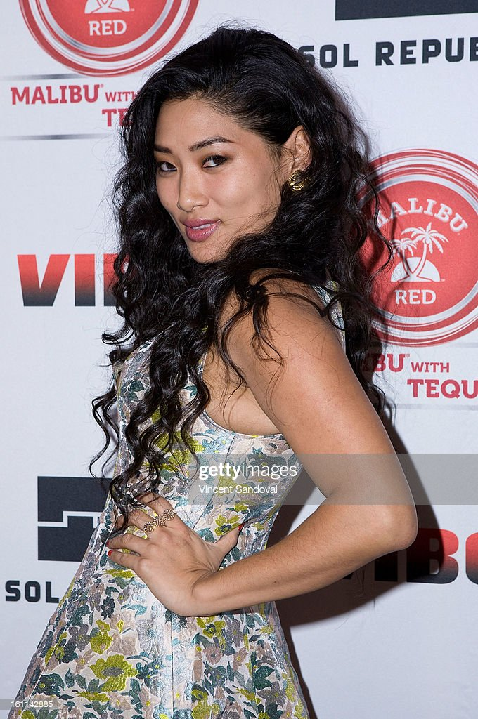 Singer Chloe Flower attends VIBE Magazine's 20th anniversary celebration with inaugural impact awards - Arrivals at Sunset Tower on February 8, 2013 in West Hollywood, California.
