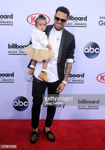 Singer Chris Brown and daughter Royalty arrive at the 2015 Billboard Music Awards at MGM Garden Arena on May 17 2015 in Las Vegas Nevada