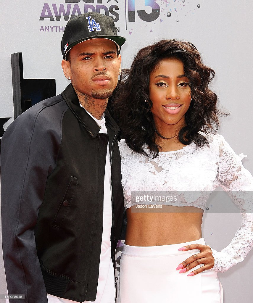 Singer Chris Brown and Sevyn Streeter attend the 2013 BET Awards at Nokia Theatre L.A. Live on June 30, 2013 in Los Angeles, California.