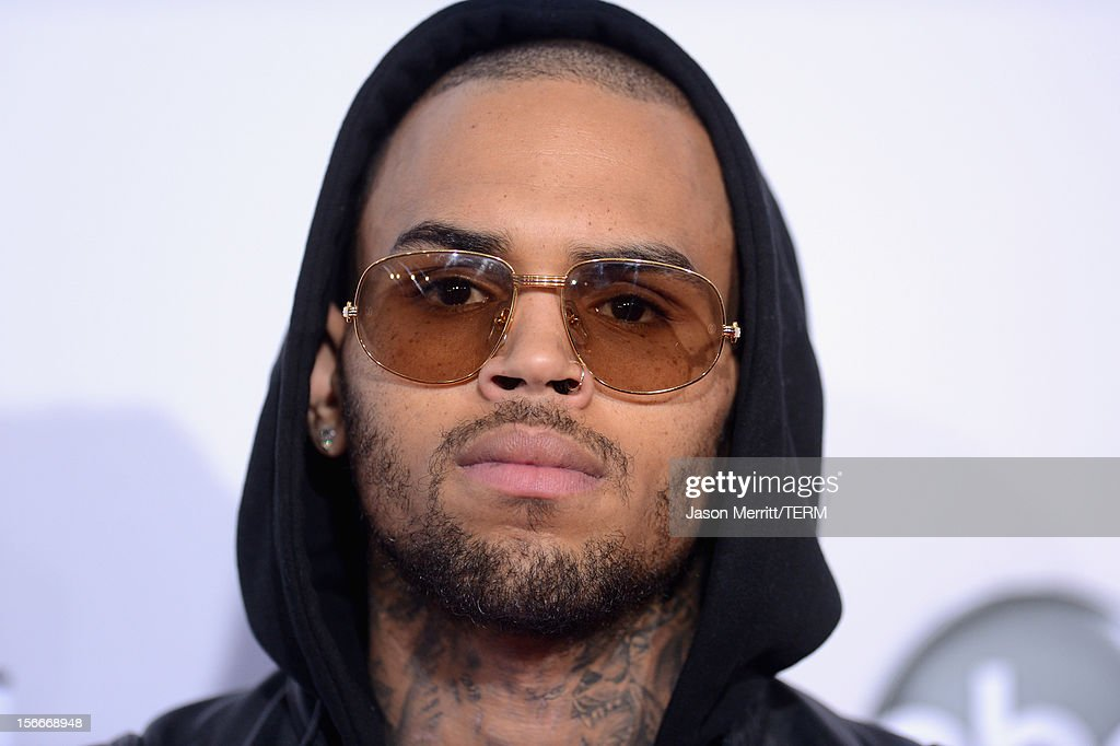 Singer Chris Brown attends the 40th American Music Awards held at Nokia Theatre L.A. Live on November 18, 2012 in Los Angeles, California.