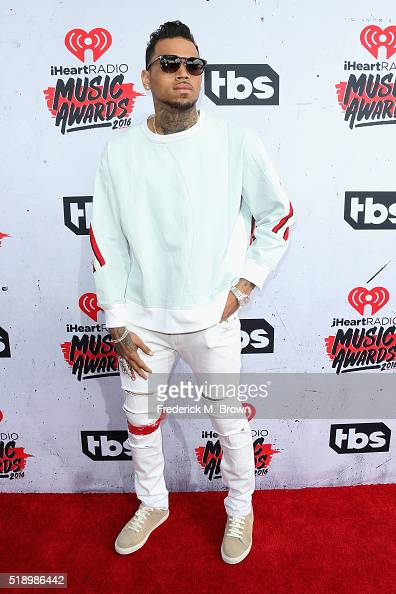 Singer Chris Brown attends the iHeartRadio Music Awards at The Forum on April 3 2016 in Inglewood California