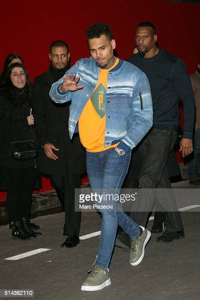 Singer Chris Brown attends the Red Obsession party to celebrate L'Oreal Paris's partnership with Paris Fashion Week on March 8 2016 in Paris France...