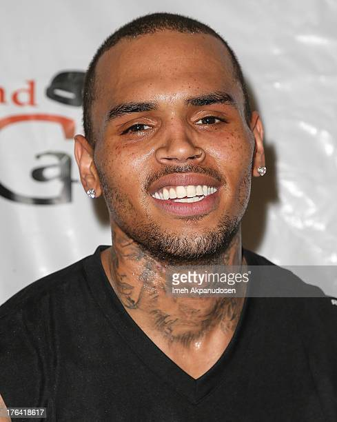 Singer Chris Brown launches his Los Angeles Unity Games with the LAPD 2nd Call and Gang Interventionists on August 11 2013 in Los Angeles California