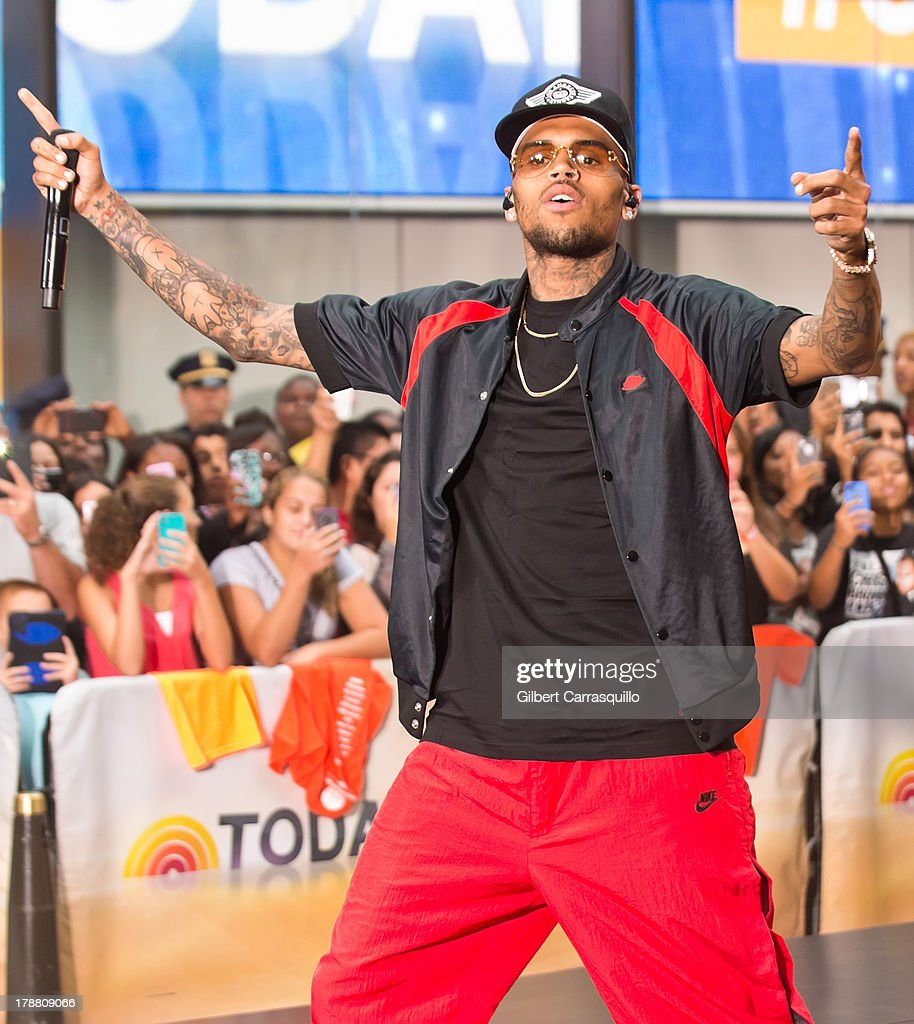 Singer Chris Brown performs on NBC's 'Today' at the NBC's TODAY Show on August 30, 2013 in New York, New York.