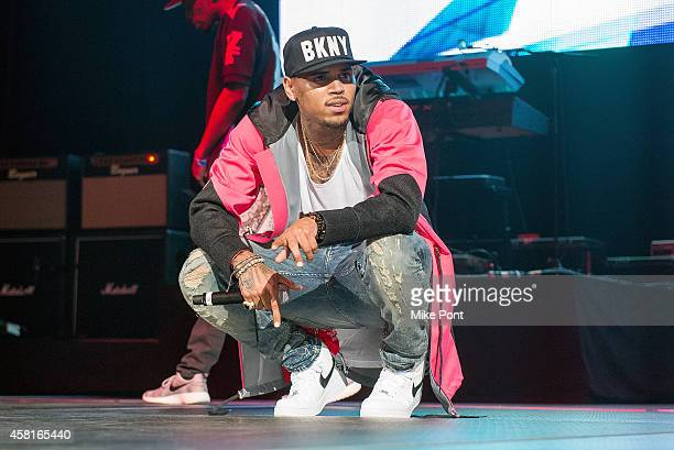 Singer Chris Brown performs on stage during Power 1051's Powerhouse 2014 at Barclays Center on October 30 2014 in New York City