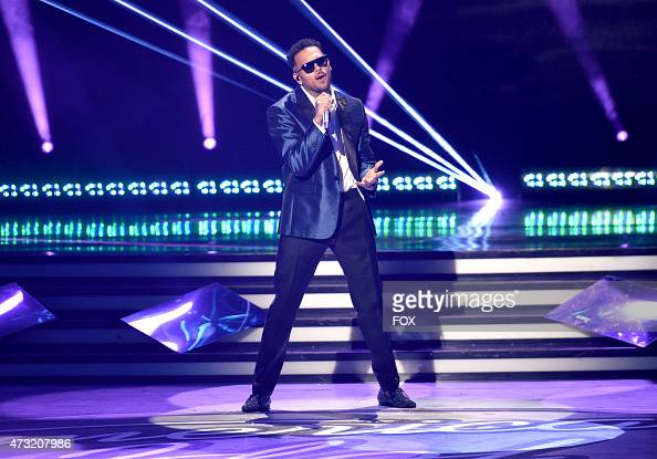 Singer Chris Brown performs onstage at FOX's 'American Idol XIV' Finale on May 13 2015 at the Dolby Theater in Hollywood California