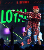 Singer Chris Brown performs onstage during the BET AWARDS '14 at Nokia Theatre LA LIVE on June 29 2014 in Los Angeles California