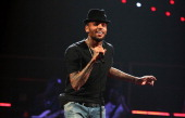 Singer Chris Brown performs onstage during the iHeartRadio Music Festival at the MGM Grand Garden Arena on September 20 2013 in Las Vegas Nevada