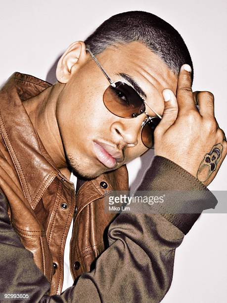 Singer Chris Brown poses at a portrait session for Giant Magazine in 2007