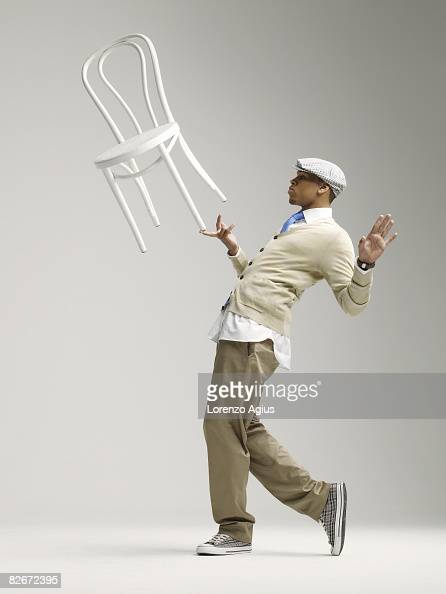 Singer Chris Brown poses for a portrait shoot for Mens Health magazine London on November 19 2007