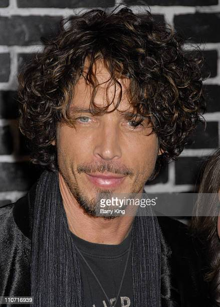 Singer Chris Cornell arrives at the Verizon Wireless and People party held at Avalon Hollywood on February 8 2008 in Hollywood California