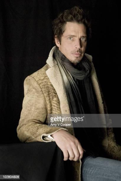 Singer Chris Cornell poses at a portrait session for mtvcom in New York City on November 7 2006
