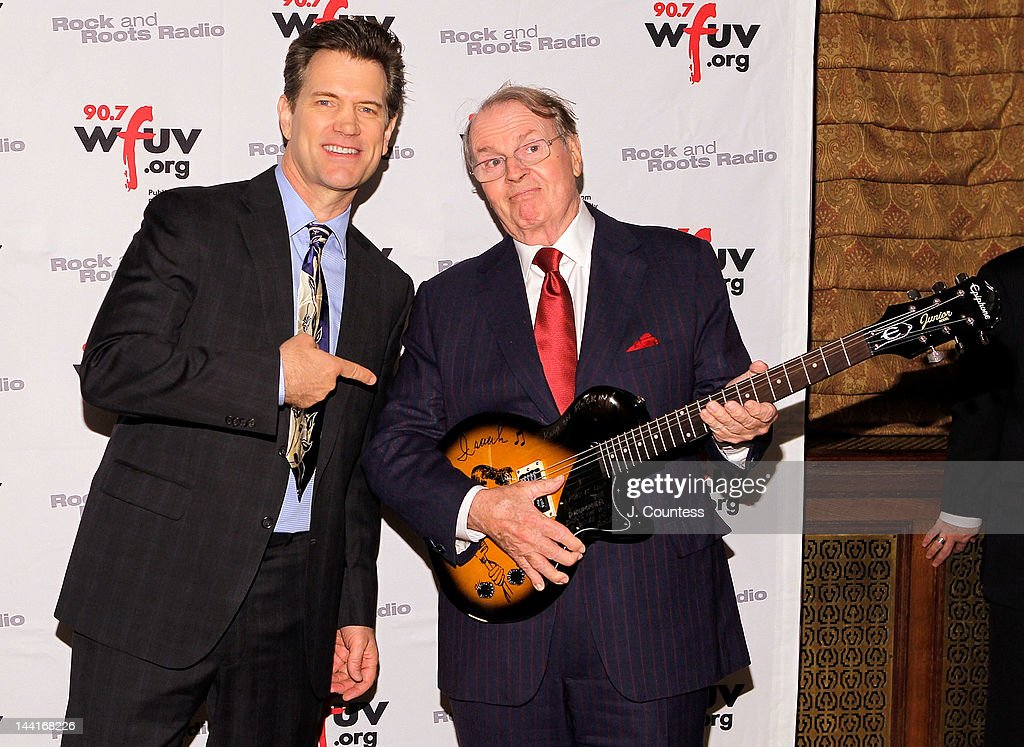 Singer Chris Isaak and journalist Charles Osgood attend the 5th Annual WFUV Radio Spring Gala at Gotham Hall on May 10, 2012 in New York City.