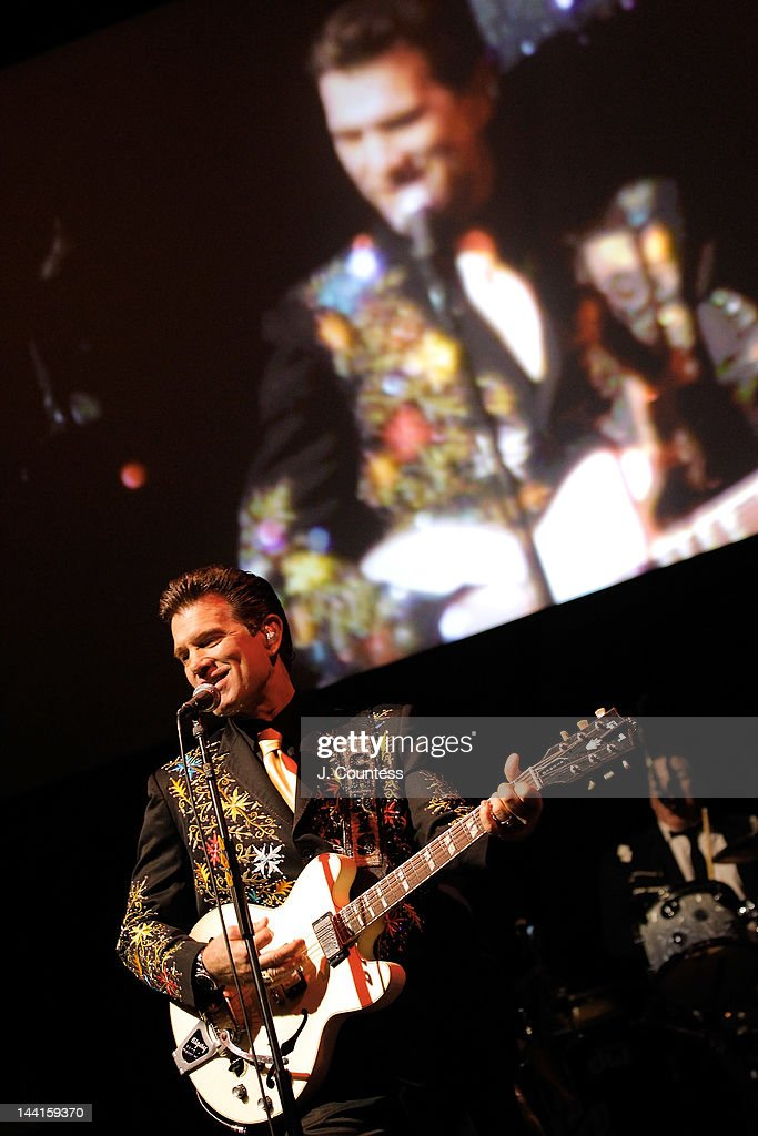 Singer Chris Isaak performs at the 5th annual WFUV Radio Spring Gala at Gotham Hall on May 10, 2012 in New York City.