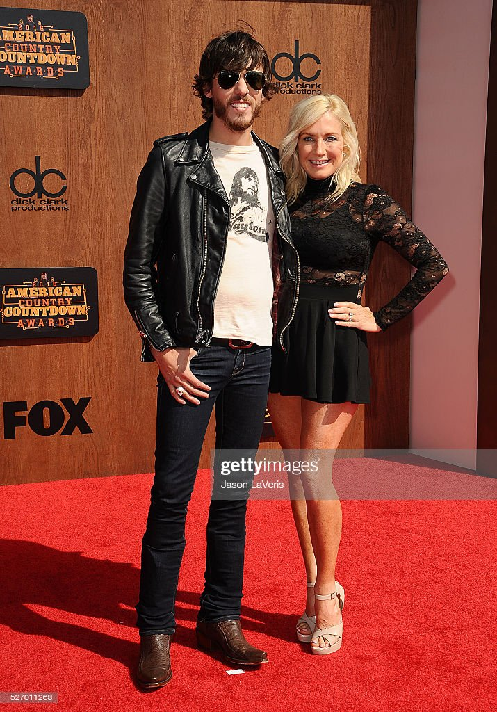 Singer <a gi-track='captionPersonalityLinkClicked' href=/galleries/search?phrase=Chris+Janson&family=editorial&specificpeople=2082639 ng-click='$event.stopPropagation()'>Chris Janson</a> and wife Kelly Lynn Janson attend the 2016 American Country Countdown Awards at The Forum on May 01, 2016 in Inglewood, California.
