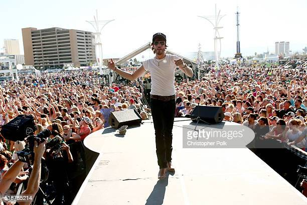 Singer Chris Janson performs onstage at the 4th ACM Party for a Cause Festival at the Las Vegas Festival Grounds on April 2 2016 in Las Vegas Nevada