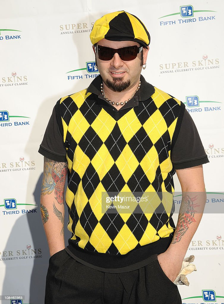Singer Chris Kirkpatrick attends the Super Skins Annual Celebrity Charity Golf Classic with Nick Lachey and Jimmie Johnson at TPC Tampa Bay on...