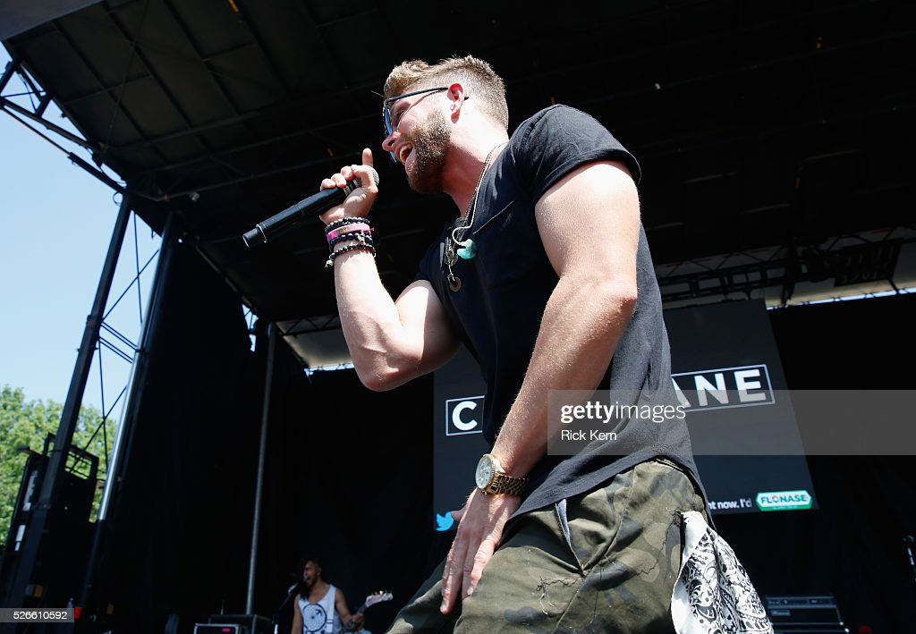 Singer Chris Lane performs live during the 2016 Daytime Village at the iHeartCountry Festival at The Frank Erwin Center on April 30, 2016 in Austin, Texas.