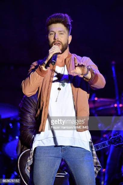 Singer Chris Lane performs onstage at the Bash at the Beach presented by WME at the Mandalay Bay Beach at Mandalay Bay Resort and Casino on April 1...