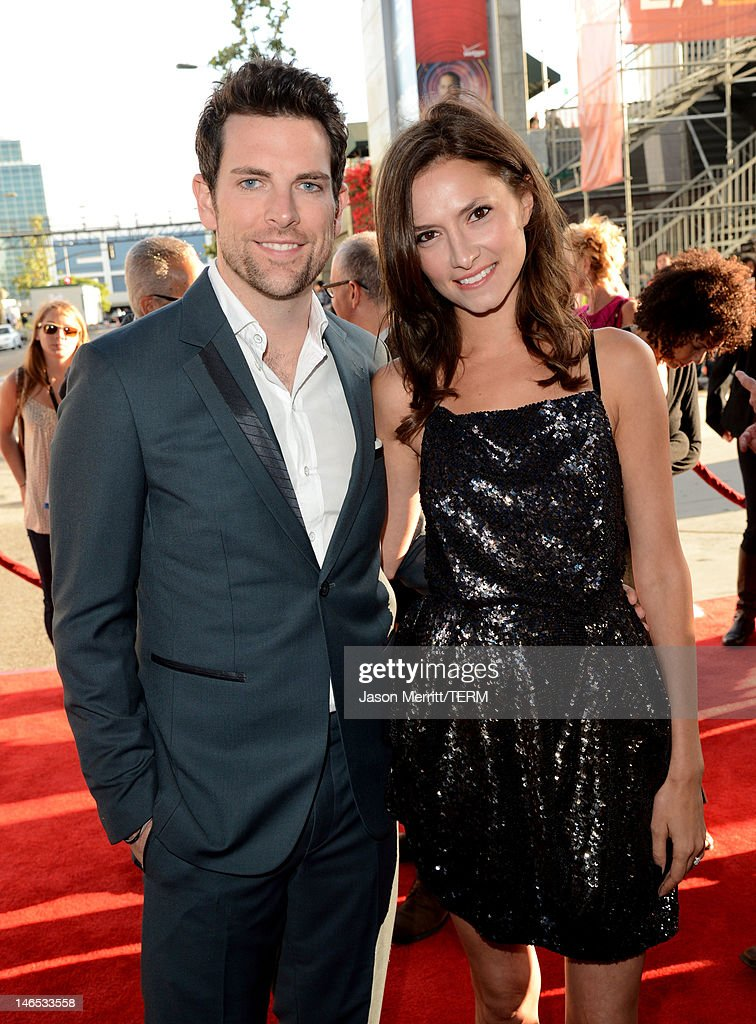 Singer Chris Mann and Laura Perloe arrive at the premiere of 'Seeking a Friend for the End of the World' at the 2012 Los Angeles Film Festival held at Regal Cinemas L.A. Live on June 18, 2012 in Los Angeles, California.