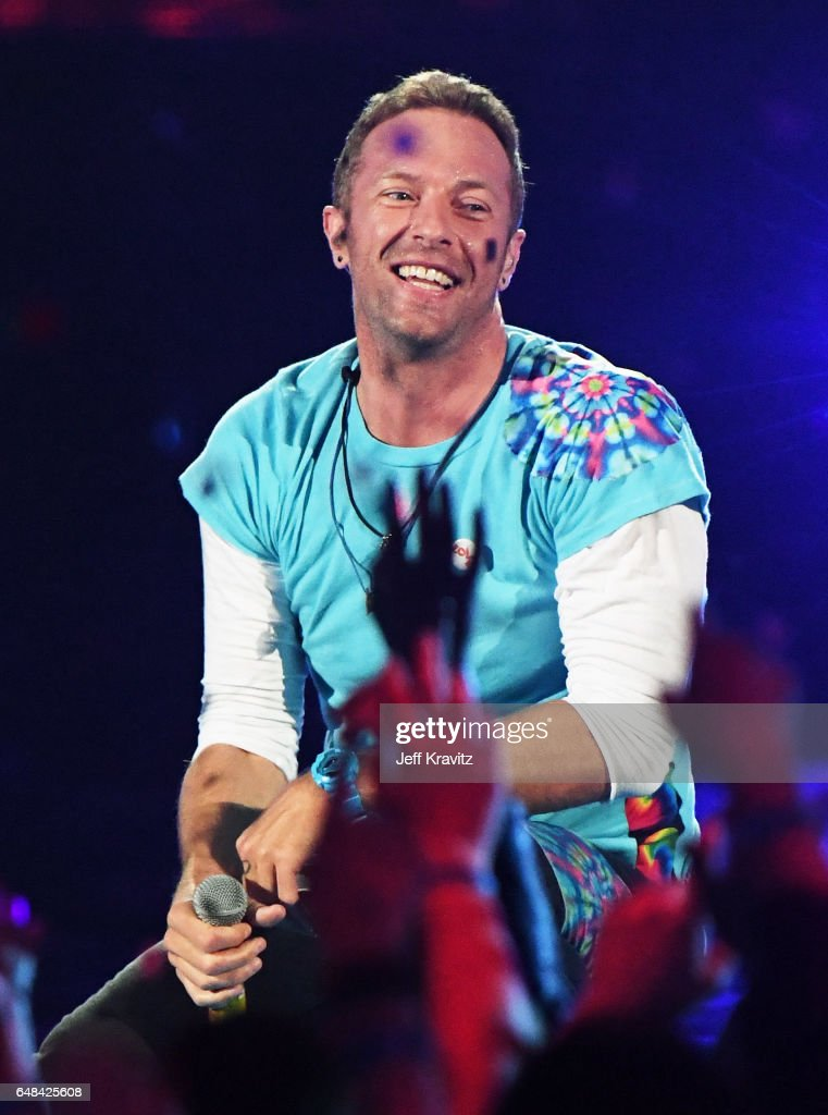 Singer Chris Martin performs onstage at the 2017 iHeartRadio Music Awards which broadcast live on Turner's TBS, TNT, and truTV at The Forum on March 5, 2017 in Inglewood, California.
