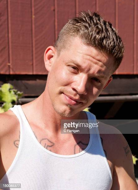 Singer Chris Rene poses backstage during the Now 997 Summer Splash at California's Great America on August 9 2012 in Santa Clara California