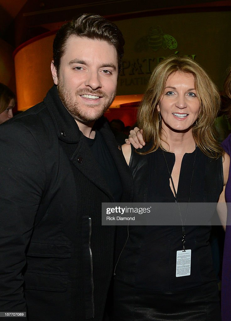 Singer Chris Young and Marion Kraft of Shopkeeper Management attend The GRAMMY Nominations Concert Live!! pre-show reception held at Bridgestone Arena on December 5, 2012 in Nashville, Tennessee.
