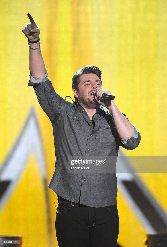 Singer Chris Young performs onstage at the 47th Annual Academy Of Country Music Awards held at the MGM Grand Garden Arena on April 1, 2012 in Las Vegas, Nevada.
