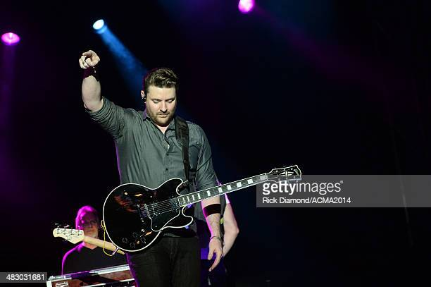 Singer Chris Young performs onstage during day two of the ACM Party for a Cause Festival at The LINQ on April 5 2014 in Las Vegas Nevada