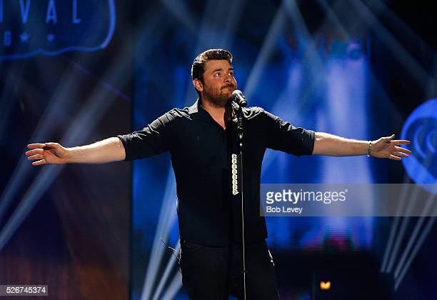 Singer Chris Young performs onstage during the 2016 iHeartCountry Festival at The Frank Erwin Center on April 30 2016 in Austin Texas