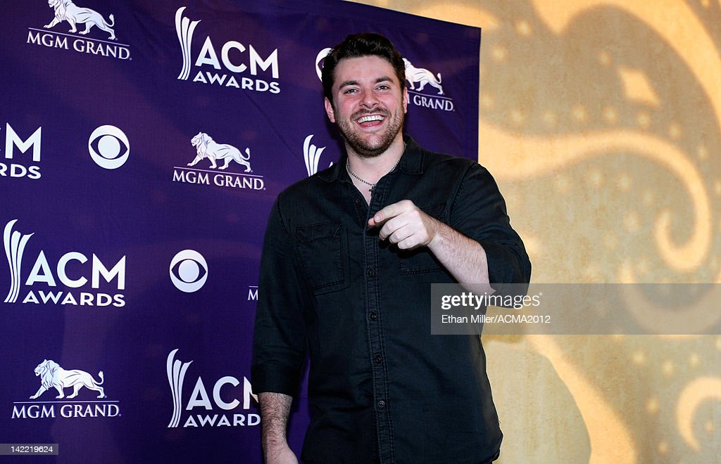 Singer Chris Young speaks onstage during ACM Radio Awards Reception at the MGM Grand Hotel/Casino on March 31, 2012 in Las Vegas, Nevada.