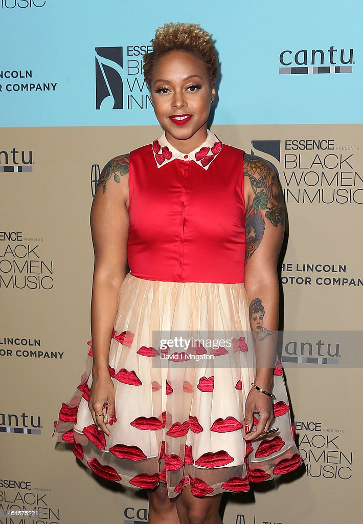 Singer <a gi-track='captionPersonalityLinkClicked' href=/galleries/search?phrase=Chrisette+Michele&family=editorial&specificpeople=4074495 ng-click='$event.stopPropagation()'>Chrisette Michele</a> attends Essence Magazine's 5th Annual Black Women in Music event at 1 OAK on January 22, 2014 in West Hollywood, California.