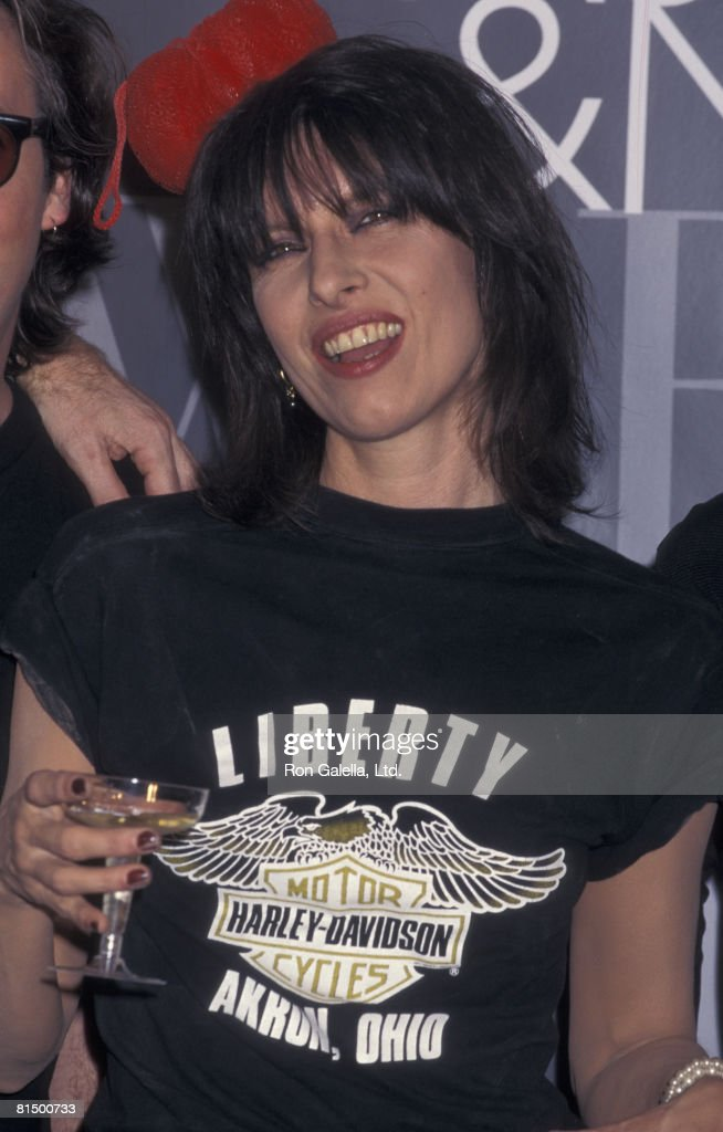 Singer Chrissie Hynde attending First Annual VH-1 Fashion Awards on December 3, 1995 at the New York State Armory in New York City, New York.