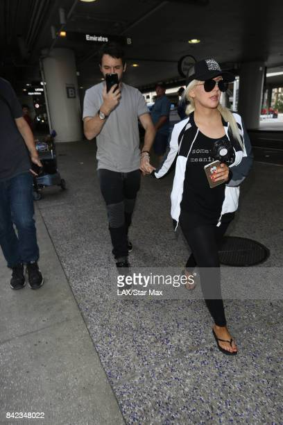 Singer Christina Aguilera and Matthew Rutler are seen on September 3 2017 in Los Angeles CA