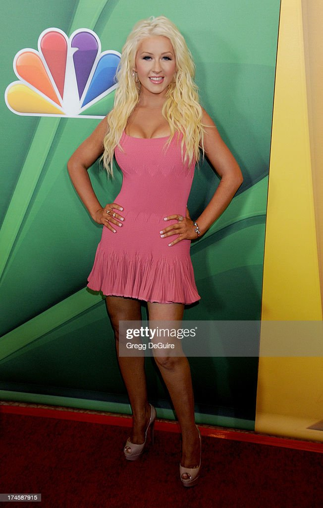 Singer Christina Aguilera arrives at the 2013 NBC Television Critics Association's Summer Press Tour at The Beverly Hilton Hotel on July 27, 2013 in Beverly Hills, California.
