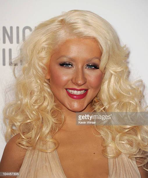 Singer Christina Aguilera arrives at the opening Gala and 'Unmasking' for the Resnick Pavilion at LACMA on September 25 2010 in Los Angeles California