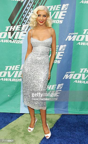 Singer Christina Aguilera arrives to the 2006 MTV Movie Awards at Sony Pictures Studio on June 32006 in Culver City California