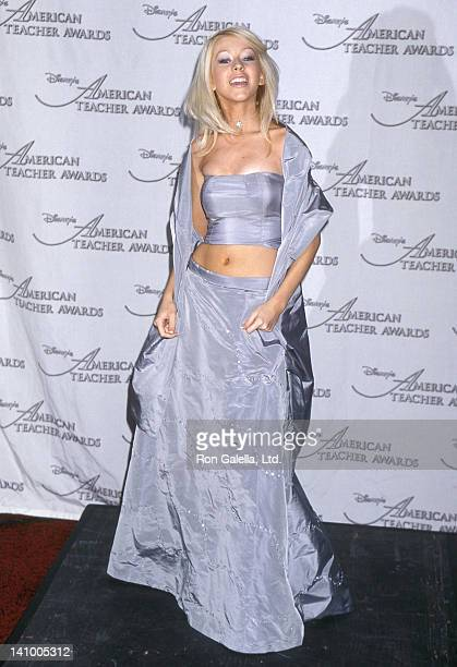Singer Christina Aguilera attends the 10th Annual Disney's American Teacher Awards on November 14 1999 at the Pantages Theatre in Hollywood California