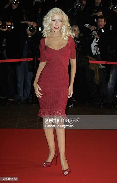 Singer Christina Aguilera attends the 2007 NRJ Music Awards held at the Palais des Festivals in Cannes France on January 20 2007