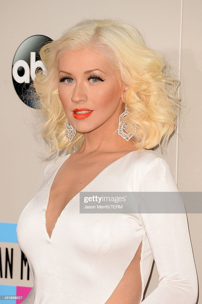 Singer Christina Aguilera attends the 2013 American Music Awards at Nokia Theatre LA Live on November 24 2013 in Los Angeles California