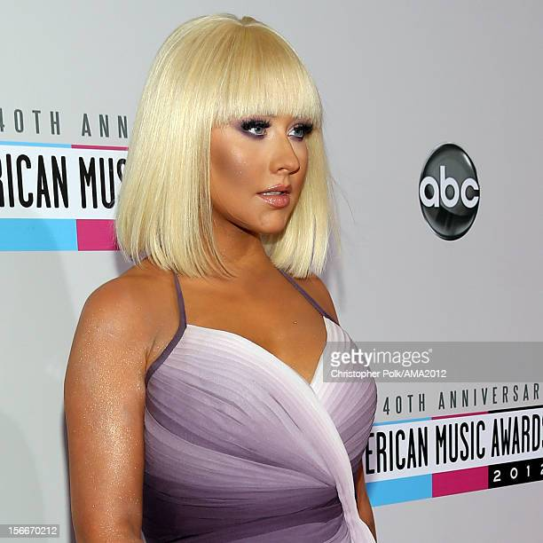 Singer Christina Aguilera attends the 40th American Music Awards held at Nokia Theatre LA Live on November 18 2012 in Los Angeles California