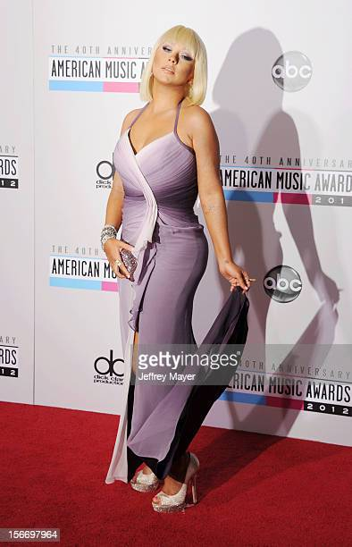Singer Christina Aguilera attends the 40th Anniversary American Music Awards held at Nokia Theatre LA Live on November 18 2012 in Los Angeles...