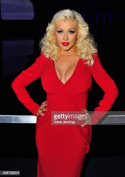 Singer Christina Aguilera attends the Breakthrough Prize Awards Ceremony Hosted By Seth MacFarlane at NASA Ames Research Center on November 9 2014 in...